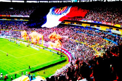 La afición de las Chivas del Guadalajara en el mítico Estadio Jalisco