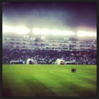 Medio tiempo en el Estadio León